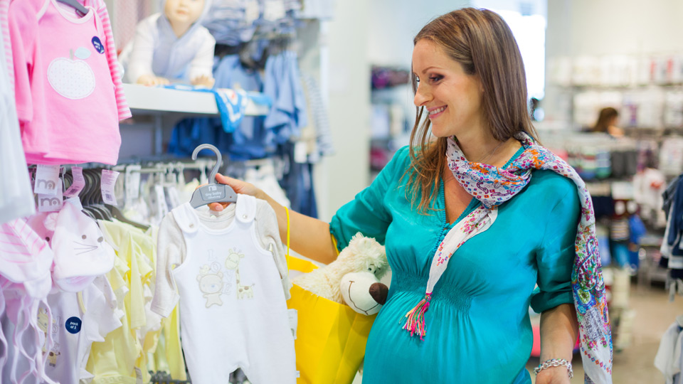 Shopping for baby clothes!